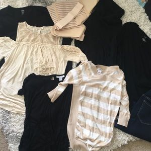 Bundle of S/M maternity clothes